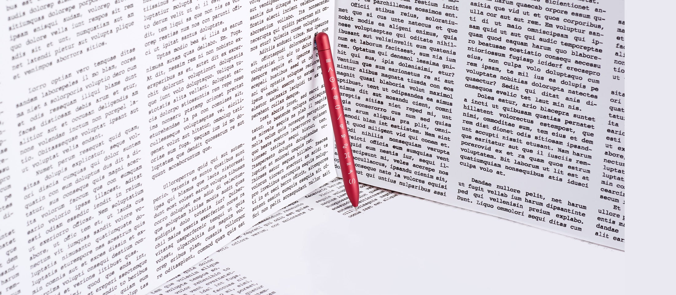 Red editor squire rollerball pen