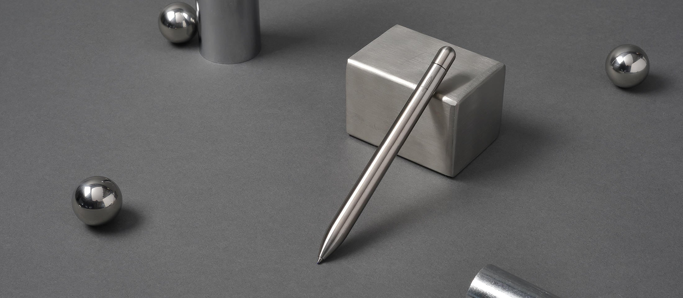 Stainless steel squire rollerball pen