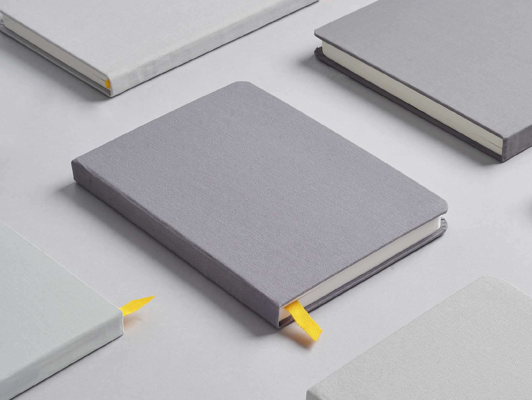 Assorted Confidant Hardcover Notebooks in Light Gray, Charcoal