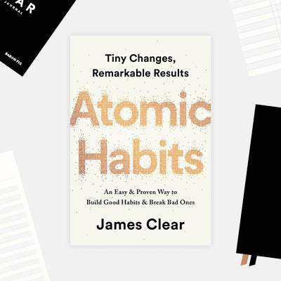 Book cover of Atomic Habits written by James Clear