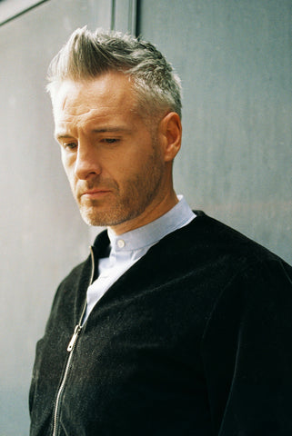 male, grey hair, mens hair , fade