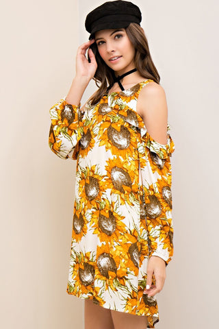 Blossom Open Shoulder Dress