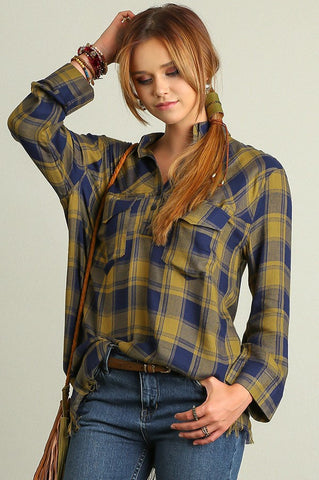 Shelley Plaid Tunic