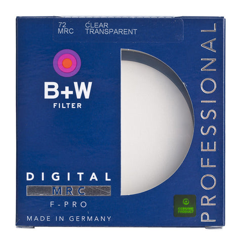 B+W 72mm F-Pro 007M Clear Filter MRC