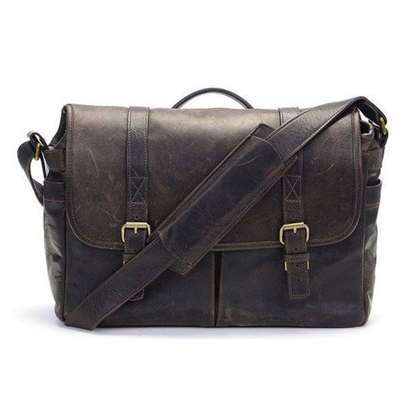 Leica Collection by ONA, Brixton Leather Camera Messenger Bag - Dark Truffle