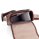 Oberwerth Bayreuth Small Photo Bag - Cordura/Leather- Beige/Light Brown