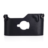 Arte di Mano Half Case for Leica M7 - Minerva Black with Black Stitching