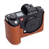 Arte di Mano Half Case for Leica SL (Typ 601) with Battery Access Door - Barenia Tan