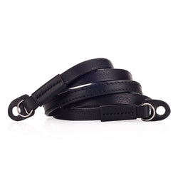 Arte di Mano 120cm Extra Long Comodo Neck Strap - Minerva Black with Black Stitching