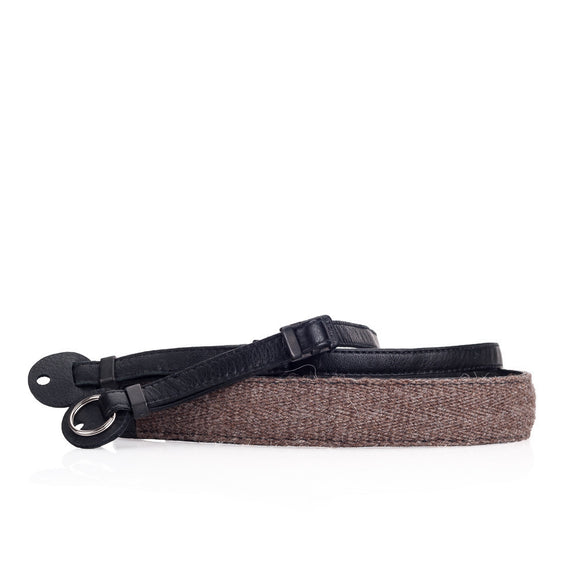 Cecilia Accessories_Neck Strap, Walnut Alpaca/Black Leather