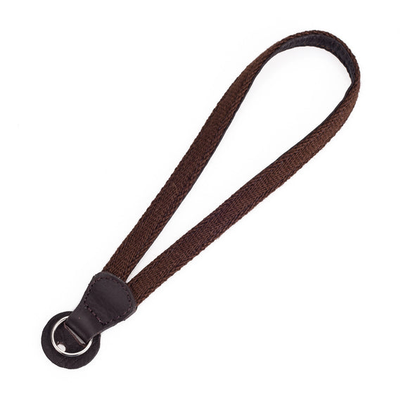 Cecilia Wrist Strap, Brown Alpaca/Brown Leather