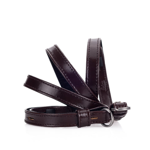 Leica Traditional carrying strap Box calf leather dark brown
