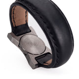 Arte di Mano Leather Finger Loop for Leica M (Typ 240) - Minerva Black with Black Stitching, Silver Metal
