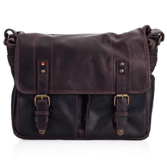 Leica Collection by ONA, Prince Street Leather Camera Messenger Bag - Dark Truffle