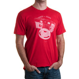 Dodge & Burn Street Shooter Red T-Shirt - Small