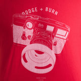 Dodge & Burn Street Shooter Red T-Shirt - Xtra Large