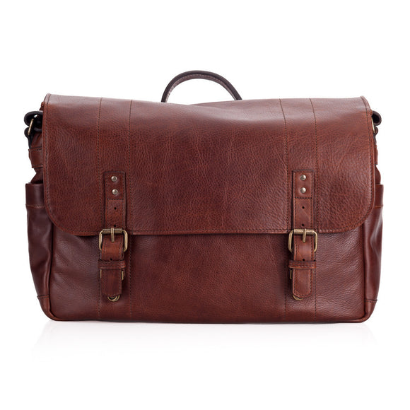 ONA Union Street Leather Camera and Laptop Bag - Walnut