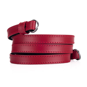 Leica Traditional carrying strap Box calf leather red