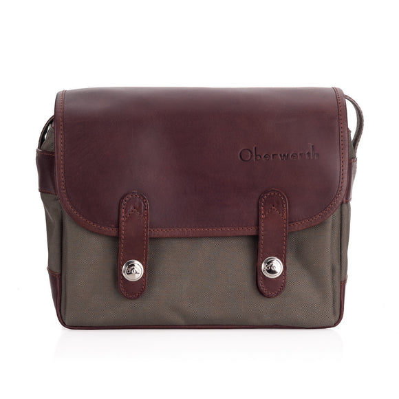Oberwerth Freiburg Medium Photo Bag - Cordura/Leather - Olive/Dark Brown