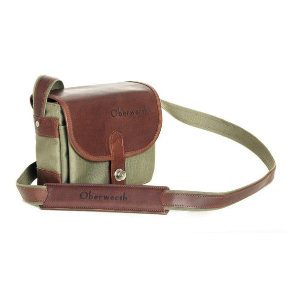 Oberwerth Bayreuth Small Photo Bag - Cordura/Leather- Olive/Dark Brown