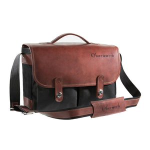 Oberwerth Munchen Large Camera Bag - Cordura/Leather -  Black/Dark Brown