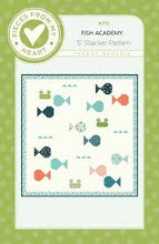 Load image into Gallery viewer, Fish Academy by Sandy Gervais and Pieces From My Heart Quilt Pattern
