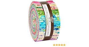 Robert Kaufman- Natural Blooms- Wishwell- Bright Colorstory Jelly Roll