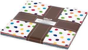 Robert Kaufman- Hi My Name Is Dot And Stripe Delights Layer Cake