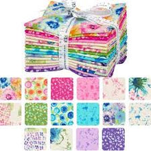 Load image into Gallery viewer, Natural Blooms- Bright Color Story by Robert Kaufman Fat Quarter Bundle