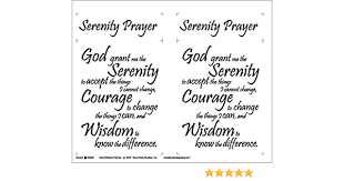 Serenity Prayer Fabric Panel