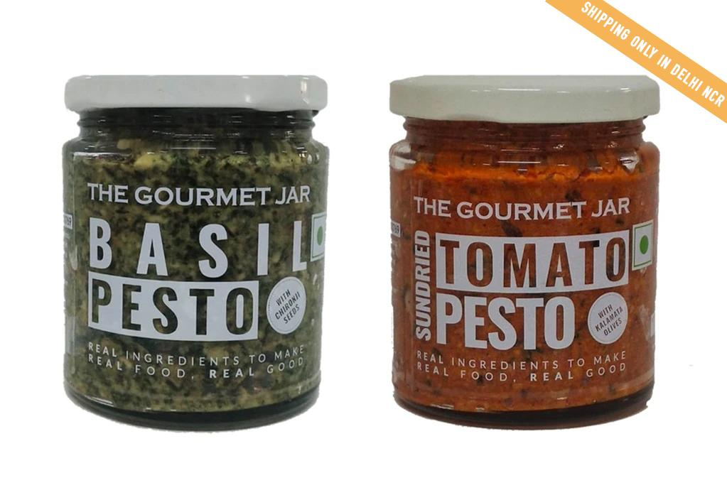 Pesto Combo - Sundried Tomato & Basil. (Shipping only in Delhi NCR)