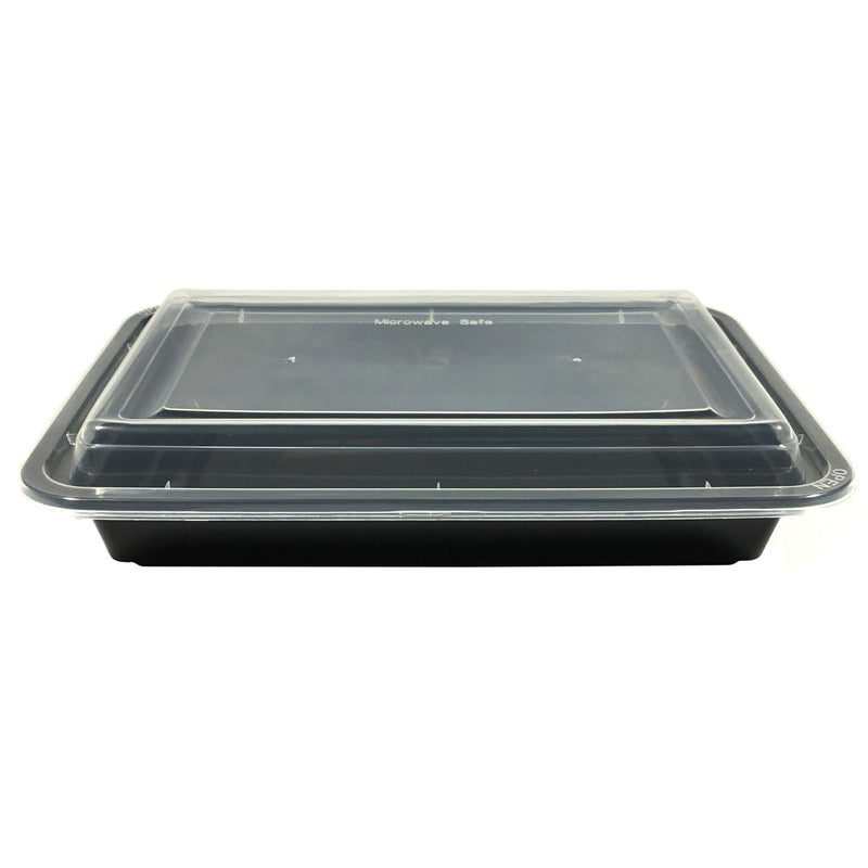 HD RE-28B 28OZ Rect Plastic Container and Lid, 150 Sets