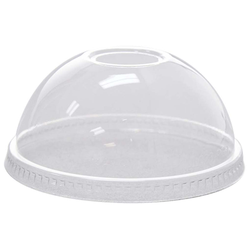 Clear PET Dome Lid w/ Hole for PET Clear Cup 12OZ-24OZ