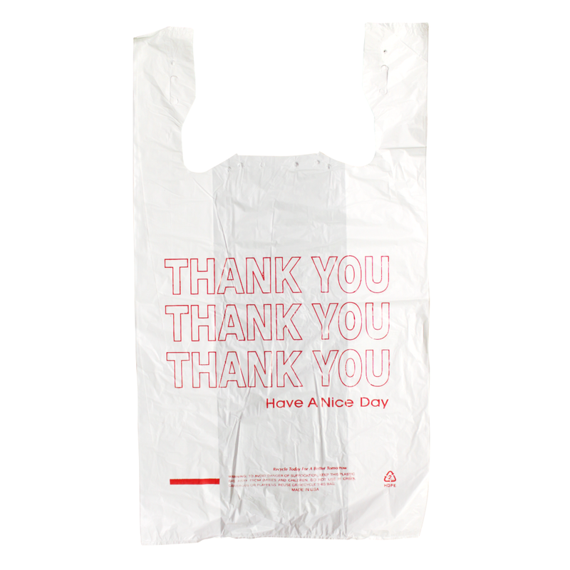 Plastic Bag Thank You HDPE T-Shirt Bags