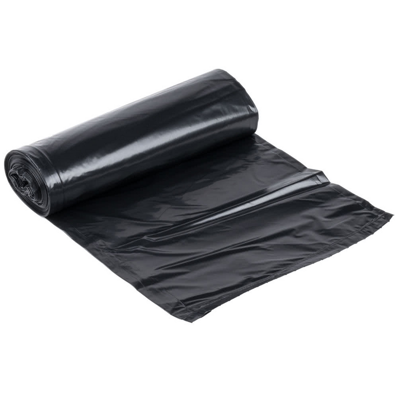 "Can Liners WSLW3858SHK 38""x58"" 1.4 Mil 60Gal Black, 100/CS"