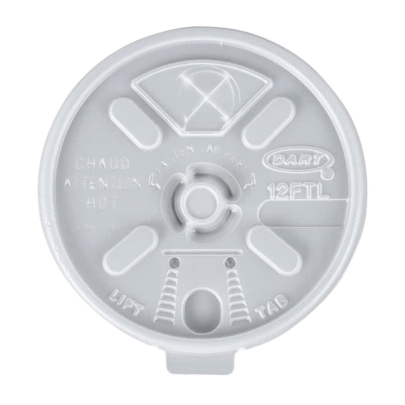 Dart 12FTL Lift n' Lock Lid White, 10x100