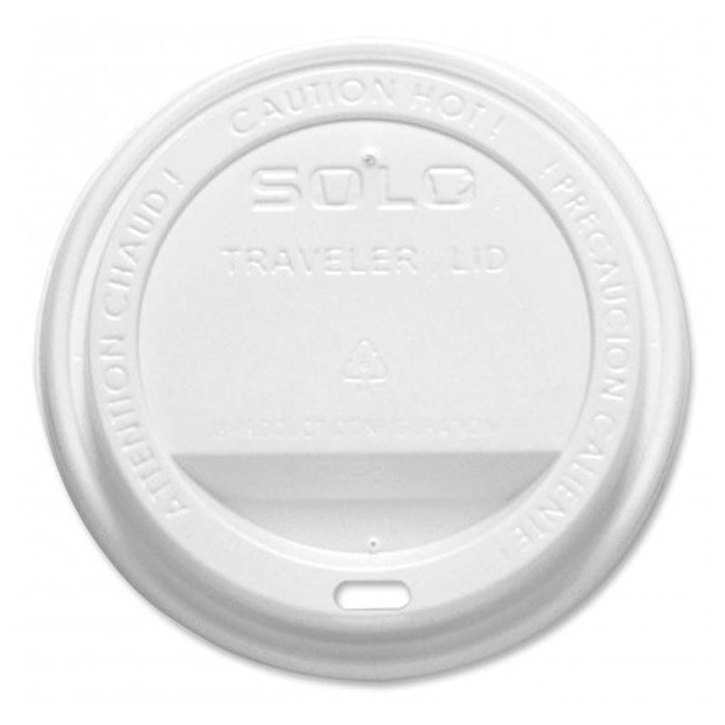 Solo Traveler Lid White for Paper Hot Cups TLP316-0007, 1000/CS