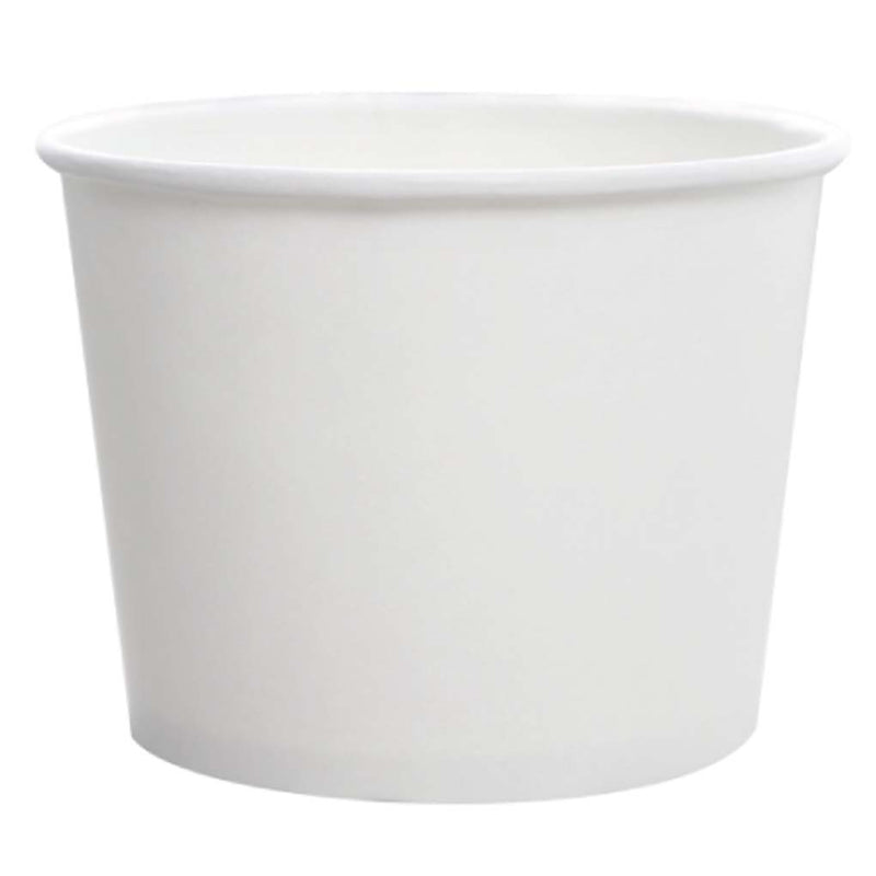 Karat 16OZ Paper Food Container (White) C-KDP16W, 20X50