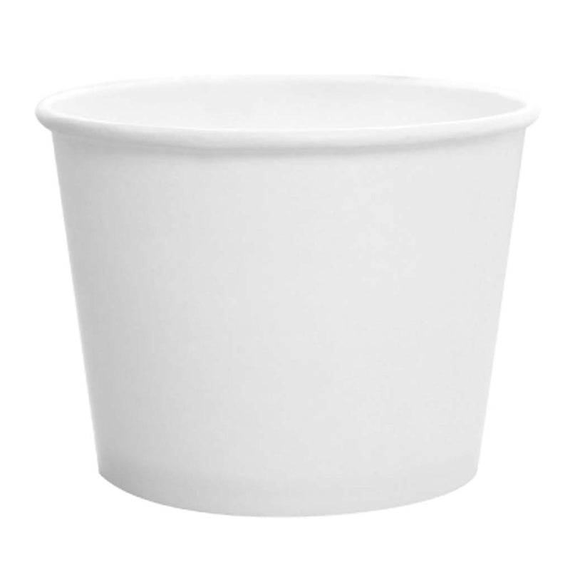 Karat 12OZ Paper Food Container (White) C-KDP12W, 20X50