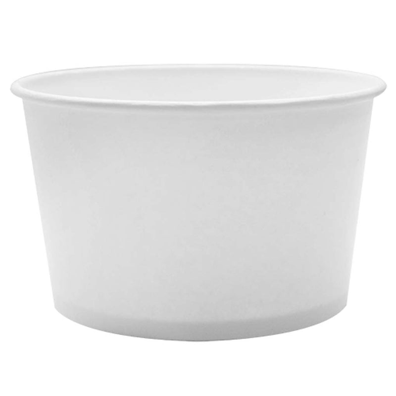 Karat 28OZ Paper Food Container (White) C-KDP28W, 12X50