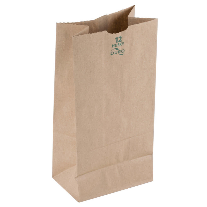 12 LB Kraft Husky Brown Paper Bag (Heavy) 70212, 400/CS