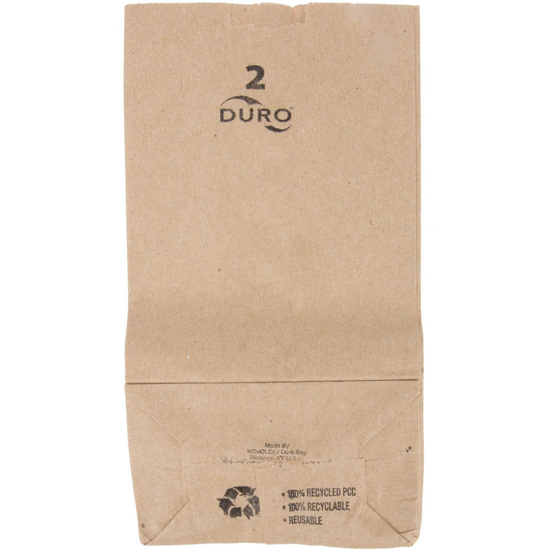 2 LB Kraft Brown Paper Bag 18402, 500/CS