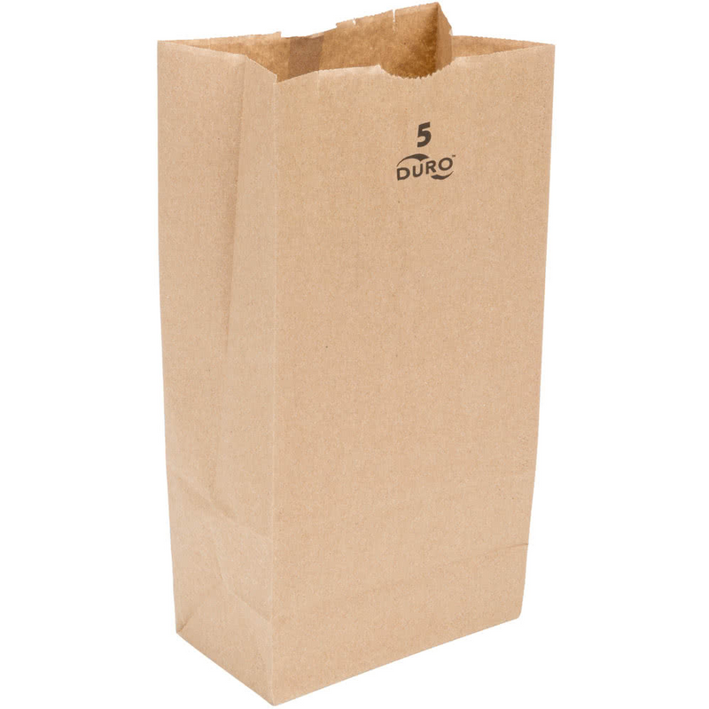 5 LB Kraft Brown Paper Bag 18405, 500/CS