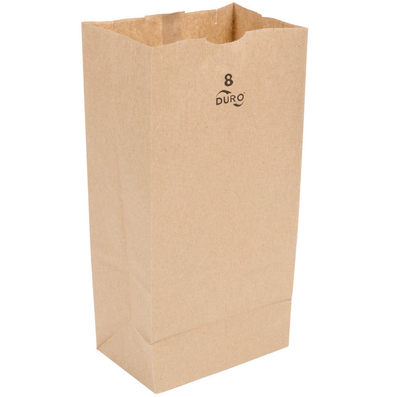 8 LB Kraft Brown Paper Bag (Thin) 18408