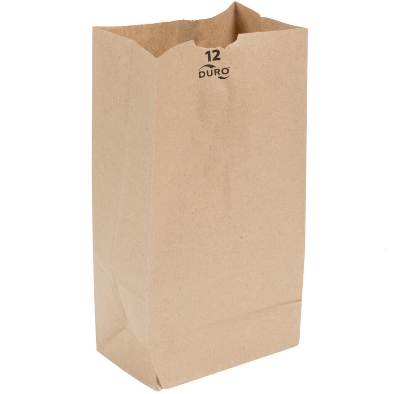 12 LB Kraft Brown Paper Bag (Thin) 18412, 500/CS