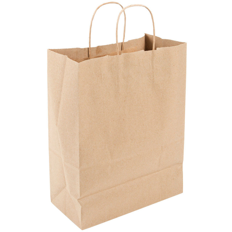 Paper Bag w/ Twisted Handle (Shopping Bags Kraft Small) 9.5 X 5.25X 13.5, 250/CS