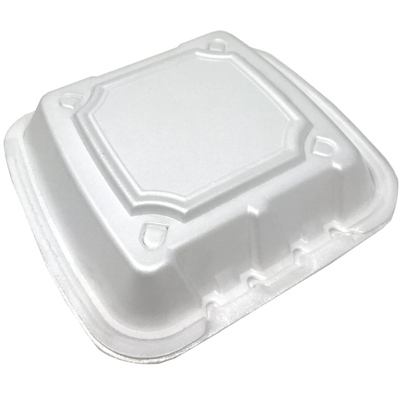 "Regal 8"" Foam Container 8x8x3 1-Comp RE883S, 200/CS"