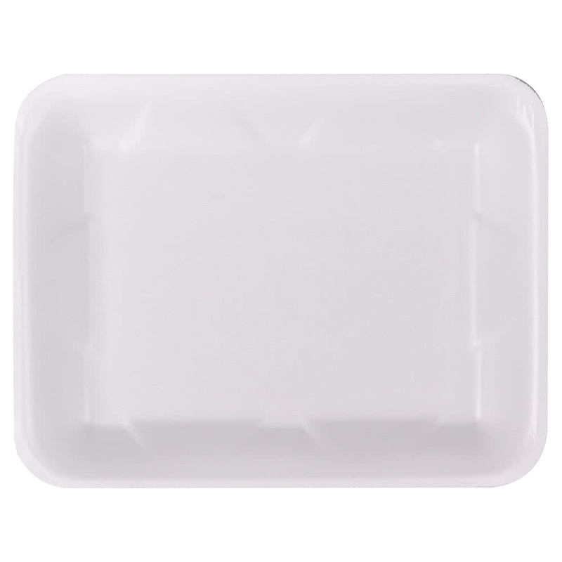 #4D White Supermarket Foam Tray 9.25x7.25x1.25