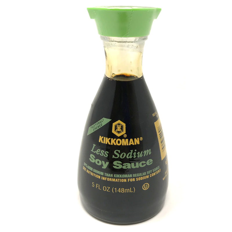 Kikkoman Less Sodium Soy Sauce BOTTLES, 12X5OZ