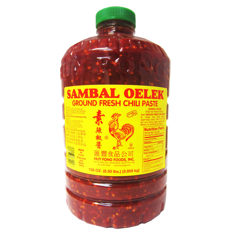 Huy Fong Sambal Oelek Ground Chili, 3X136OZ